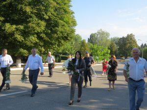 Depuneri de flori cu ocazia celei de-a 29-a aniversare de la proclamarea Independenței Republicii Moldova