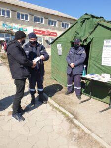 Angajații Secției Situații Excepționale Telenești implicați în campania de informare a populației cu privire la măsurile de prevenire și control a infecției cu Covid-19